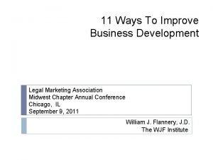 11 Ways To Improve Business Development Legal Marketing