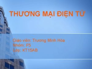 THNG MI IN T Gio vin Trng Minh