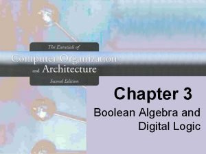 Chapter 3 Boolean Algebra and Digital Logic Chapter