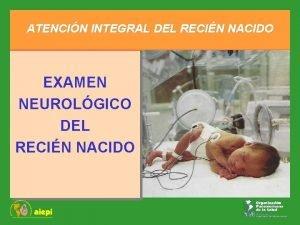 ATENCIN INTEGRAL DEL RECIN NACIDO EXAMEN NEUROLGICO DEL