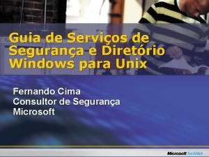 Guia de Servios de Segurana e Diretrio Windows