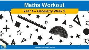Maths Workout Year 4 Geometry Week 2 Deepening