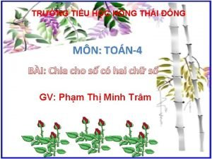 TRNG TIU HC HNG THI NG MN TON4