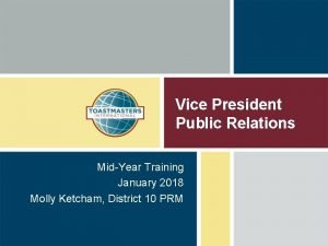 Vice President Public Relations MidYear Training January 2018
