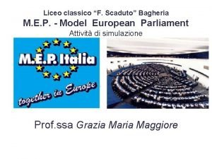 Liceo classico F Scaduto Bagheria M E P
