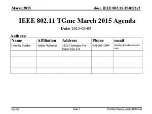 March 2015 doc IEEE 802 11 150221 r