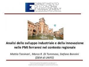 Analisi dello sviluppo industriale e della innovazione nelle