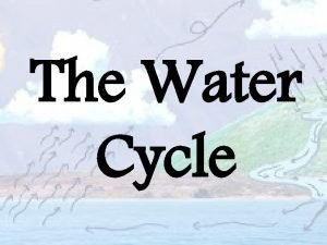 The Water Cycle Earths Water Cycle A cycle