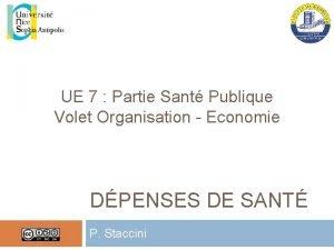 UE 7 Partie Sant Publique Volet Organisation Economie