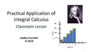 Practical Application of Integral Calculus 200 Classroom Lesson