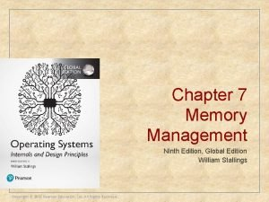 Chapter 7 Memory Management Ninth Edition Global Edition