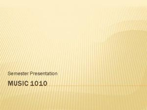 Semester Presentation MUSIC 1010 ANTONIO VIVALDI BIOGRAPHY Born