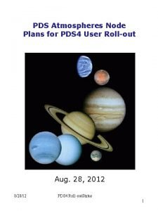 PDS Atmospheres Node Plans for PDS 4 User