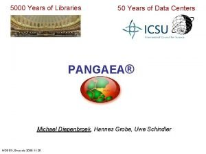 5000 Years of Libraries 50 Years of Data