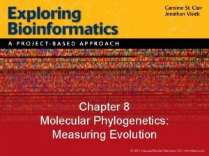 Chapter 8 Molecular Phylogenetics Measuring Evolution Figure 8