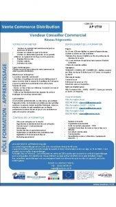 APVT 10 Vendeur Conseiller Commercial Rseau Ngoventis VOTRE