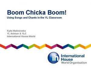 Boom Chicka Boom Using Songs and Chants in