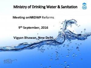 Ministry of Drinking Water Sanitation Meeting on NRDWP