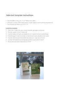 table tent template instructions This template is set
