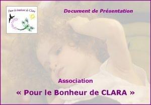 Document de Prsentation Association Pour le Bonheur de