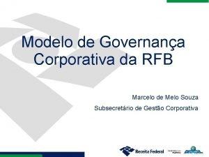 Modelo de Governana Corporativa da RFB Marcelo de