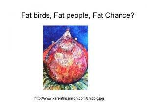 Fat birds Fat people Fat Chance http www