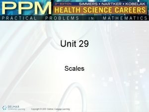 Unit 29 Scales Basic Principles of Reading Scales