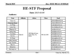 March 2015 doc IEEE 802 11 150381 r