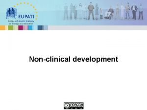 European Patients Academy on Therapeutic Innovation Nonclinical development