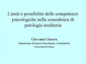 Limiti e possibilit delle competenze psicologiche nella consulenza
