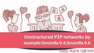 Unstructured P 2 P networks by example Gnutella