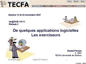 Genve 13 et 20 novembre 2007 UsTICE 74111