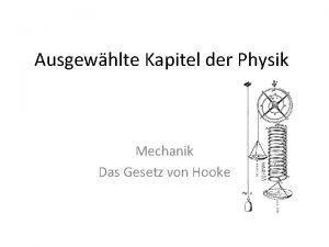 Ausgewhlte Kapitel der Physik Mechanik Das Gesetz von