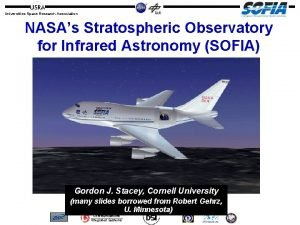 Universities Space Research Association NASAs Stratospheric Observatory for