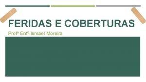 FERIDAS E COBERTURAS Prof Enf Ismael Moreira SISTEMA