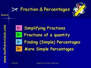 Fraction Percentages www mathsrevision com General Simplifying Fractions