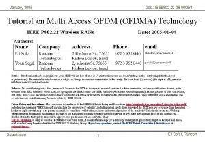 January 2005 Doc IEEE 802 22 05 0005