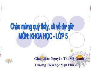 Gio vin Nguyn Th M Oanh Trng Tiu