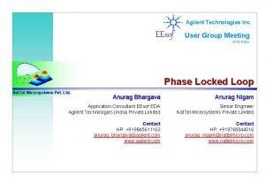 Agilent Technologies Inc EEsof User Group Meeting 2010
