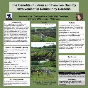 The Benefits Children and Families Gain by Involvement