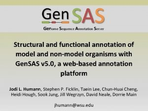 Genome Sequence Annotation Server Structural and functional annotation