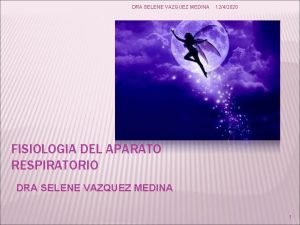 DRA SELENE VAZQUEZ MEDINA 1242020 FISIOLOGIA DEL APARATO