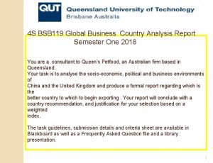 4 S BSB 119 Global Business Country Analysis
