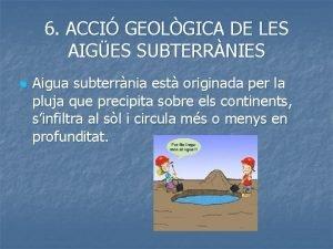 6 ACCI GEOLGICA DE LES AIGES SUBTERRNIES n