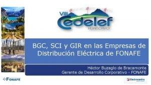 BGC SCI y GIR en las Empresas de