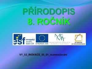PRODOPIS 8 RONK VY52INOVACE0501rozmnoovn POPIS 3 4 5