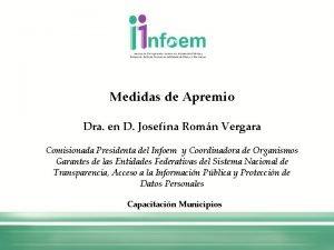 Medidas de Apremio Dra en D Josefina Romn