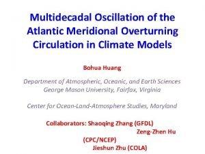 Multidecadal Oscillation of the Atlantic Meridional Overturning Circulation