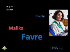 ne pas cliquer Charlie Malika Favre 1975 Cette