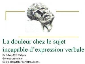 La douleur chez le sujet incapable dexpression verbale